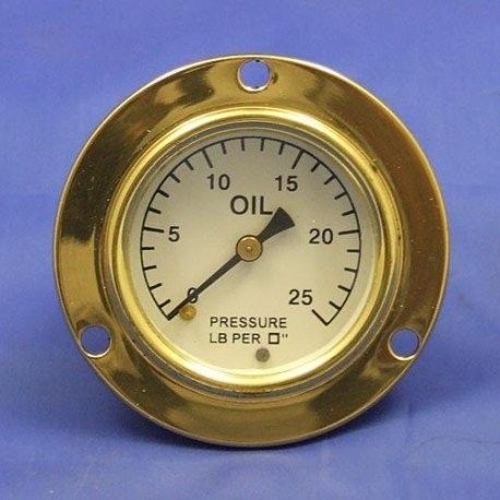 Tlakoměr oleje 0-25lb/sq - Bílý ciferník