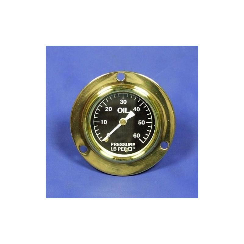 Tlakoměr oleje 0-60 lb/sq - Černý ciferník