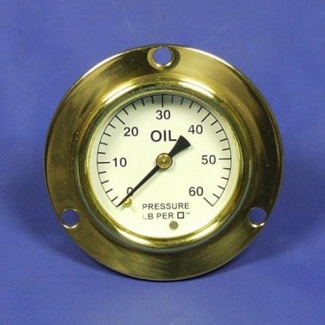 Tlakoměr oleje 0-60 lb/sq - Bílý ciferník